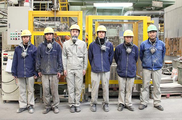 耐火煉瓦の三石ハイセラム定型レンガ工場写真4