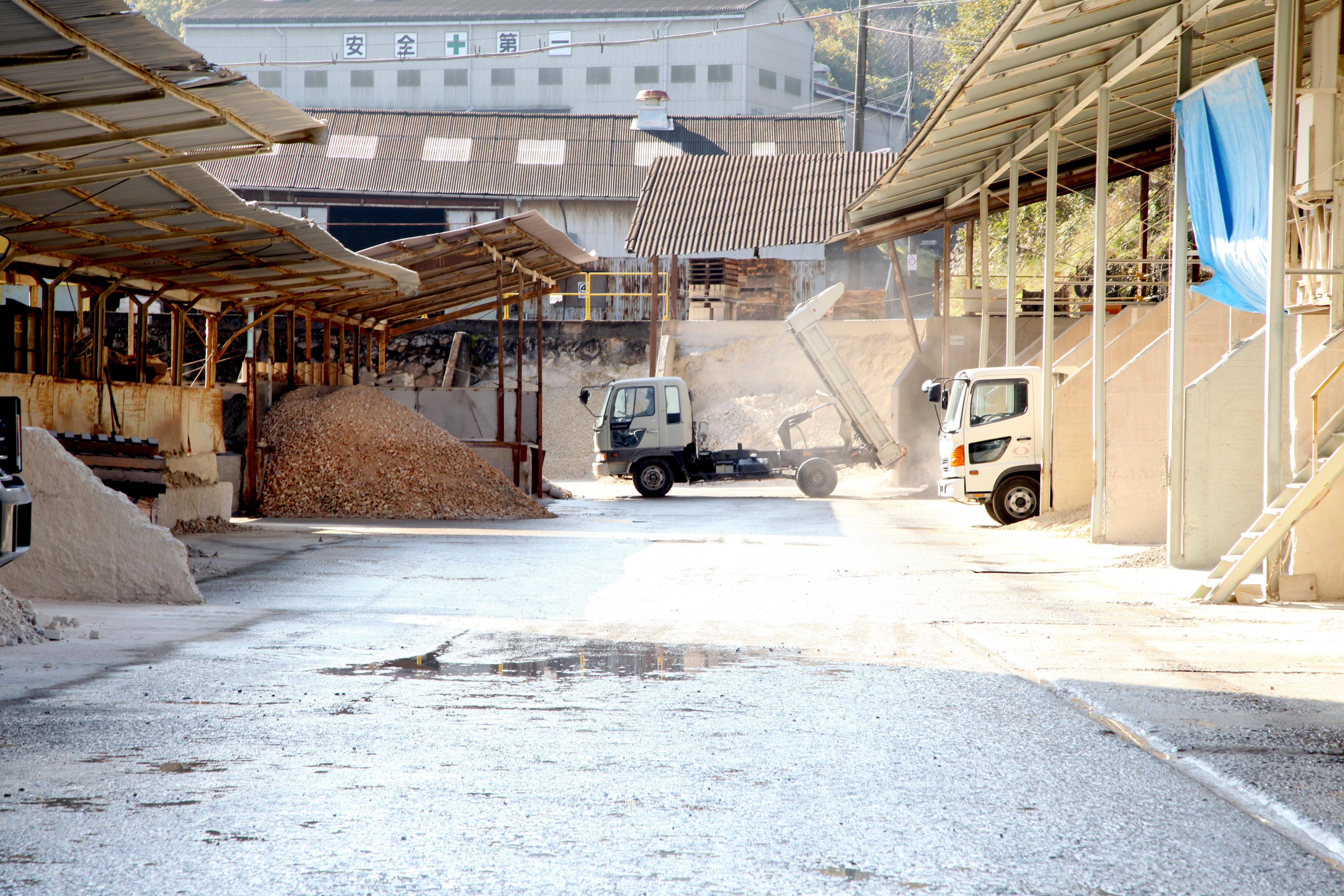 耐火煉瓦の三石ハイセラム製粉工場写真1
