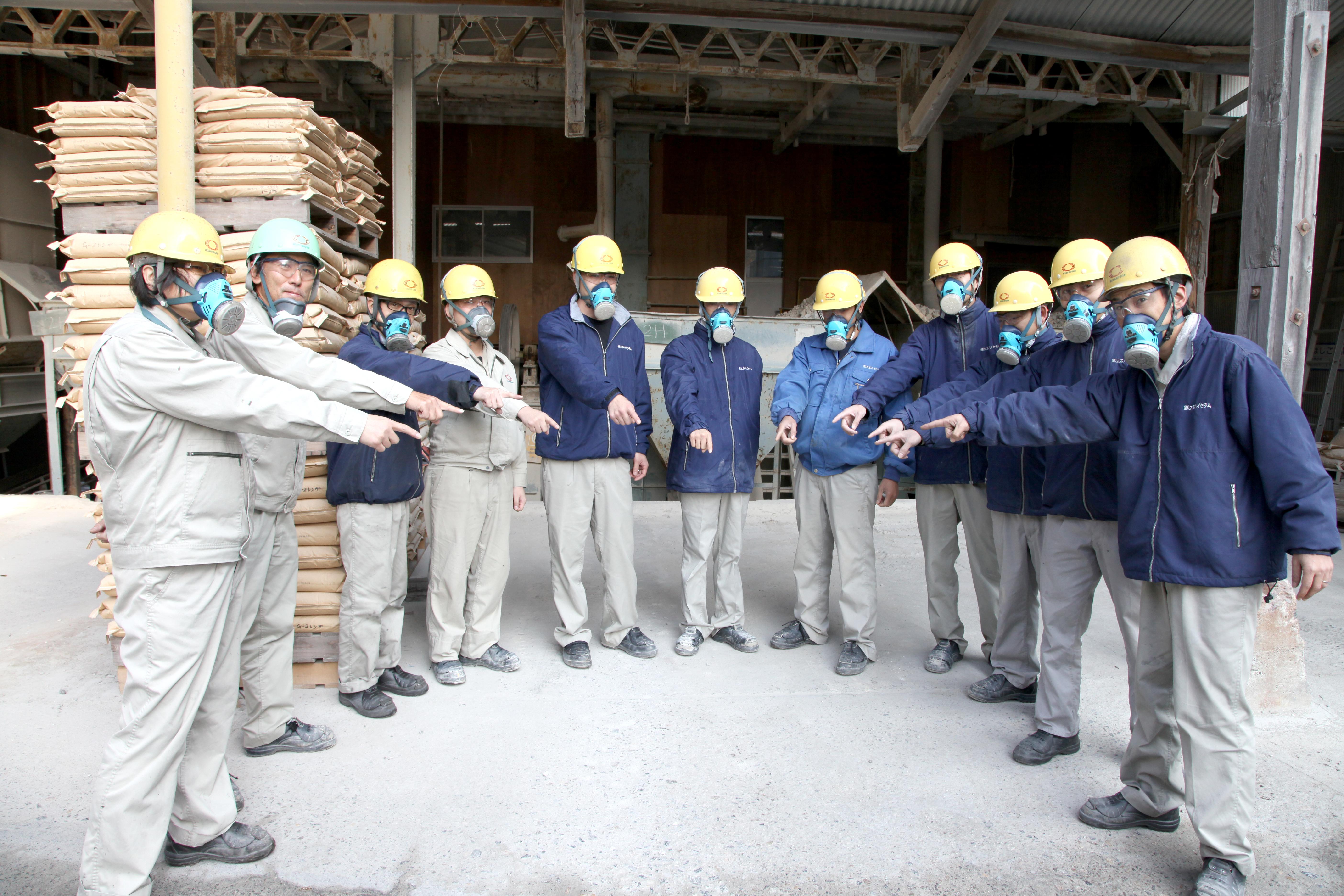耐火煉瓦の三石ハイセラム製粉工場写真4