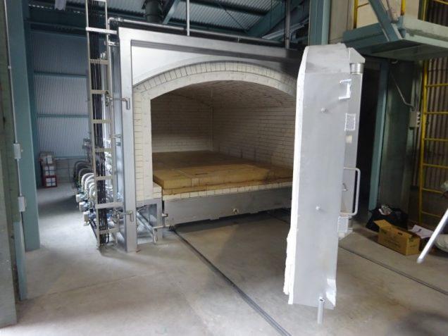 耐火煉瓦の三石ハイセラム「2018年12月10日に新設したガス式バッチ炉(シャトルキルン)」