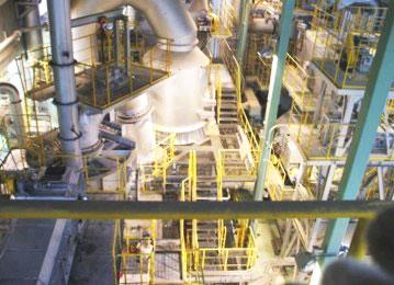 溶融焼却設備の外観写真